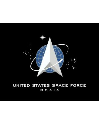 4 in. x 6 in. U.S. Space Force Flag Mounted on a Staff