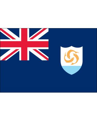Size 8 Anguilla Flag with Canvas Header & Brass Grommets
