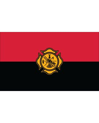 20 in. x 30 in. Fireman Remembrance Flag Heading & Grommets