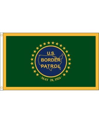 5ft. x 8ft. US Border Patrol Flag Heading & Grommets