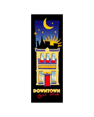 30 x 84 in. Seasonal Banner Art Deco Downtown
