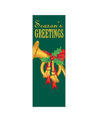 30 x 84 in. Holiday Banner French Horn