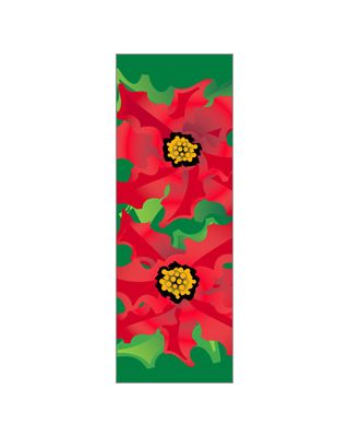 30 x 84 in. Holiday Banner Poinsettias
