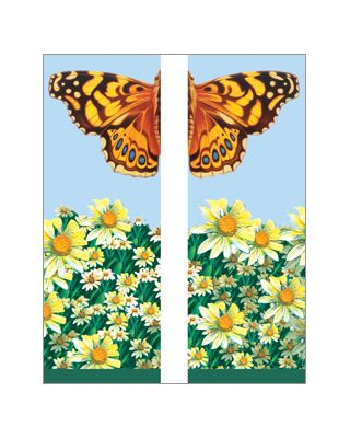 30 x 84 in. Seasonal Banner Butterfly & Daisies