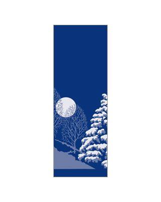 30 x 60 in. Holiday Banner Winter Scene Trees & Moon Ocean
