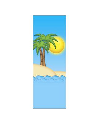 30 x 96 in. Seasonal Banner Palm Tree Summer