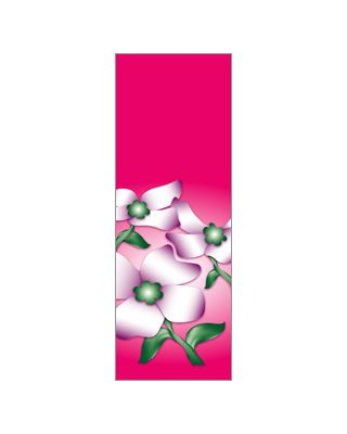 30 x 96 in. Seasonal Banner Dogwood Flowers Pink Fabric