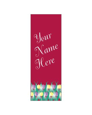 30 x 60 in. Seasonal Banner Tulips Red Fabric