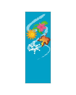 30 x 60 in. Seasonal Banner Four Seasons Swish