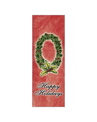 30 x 84 in. Holiday Banner Torn Paper Wreath