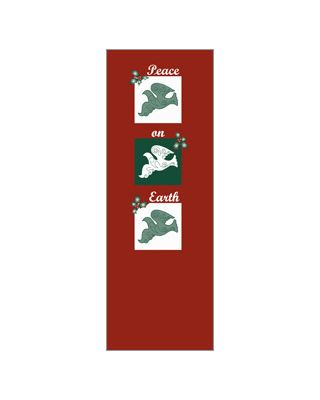 30 x 96 in. Holiday Banner Peace Doves Trio