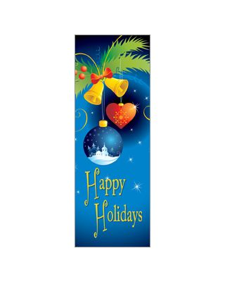 30 x 84 in. Holiday Banner Cartoon Ornaments