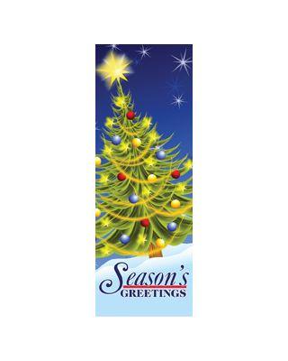 30 x 60 in. Seasonal Banner Electric Tree