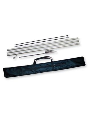 6 ft. & Up Teardrop & Sun Blade Banner Pole Kit w/ Carrying Bag