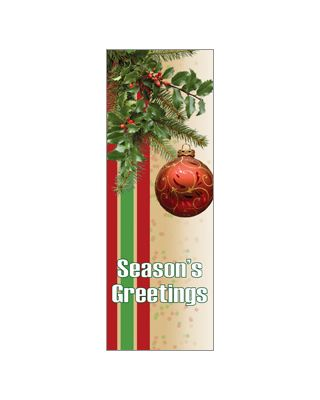 30 x 96 in. Holiday Banner Seasonal Spray with Ornament