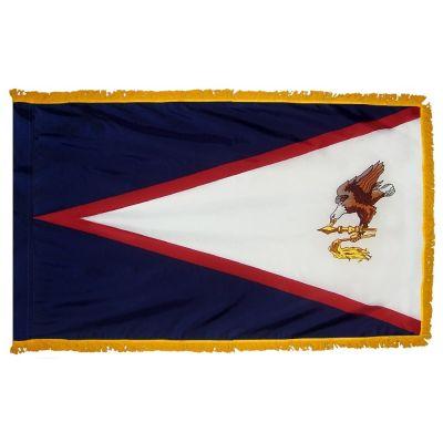 3ft. x 5ft. American Samoa Flag Fringed for Indoor Display