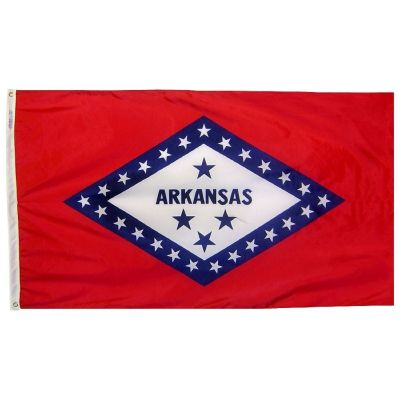 2ft. x 3ft. Arkansas Flag with Brass Grommets