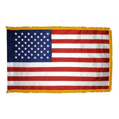 4ft. x 6ft. US Flag for Display w/Fringe