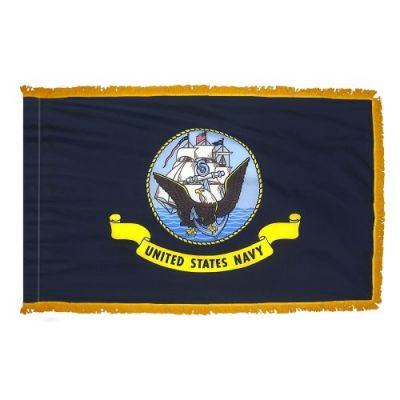 3ft. x 5ft. Navy Flag Display with Fringe