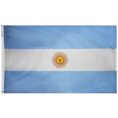 4ft. x 6ft. Argentina Flag Seal with Brass Grommets