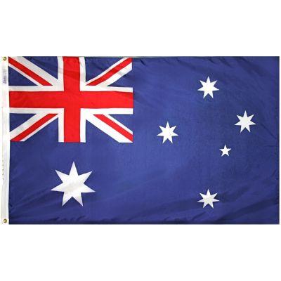 4ft. x 6ft. Australia Flag with Brass Grommets