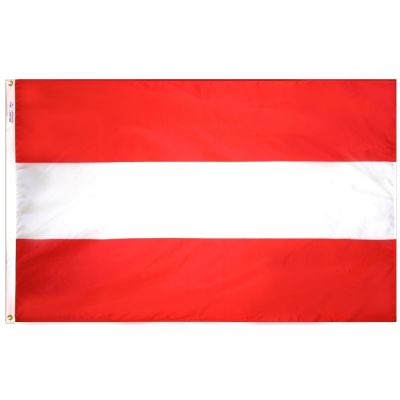 4ft. x 6ft. Austria Flag w/ Line Snap & Ring
