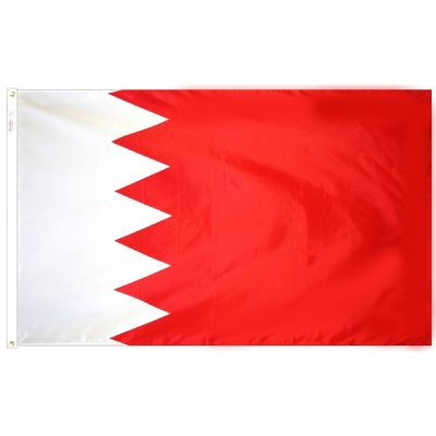 3ft. x 5ft. Bahrain Flag with Brass Grommets