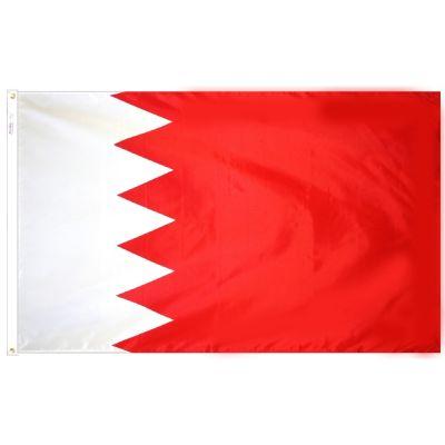 4ft. x 6ft. Bahrain Flag w/ Line Snap & Ring