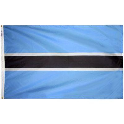 4ft. x 6ft. Botswana Flag w/ Line Snap & Ring