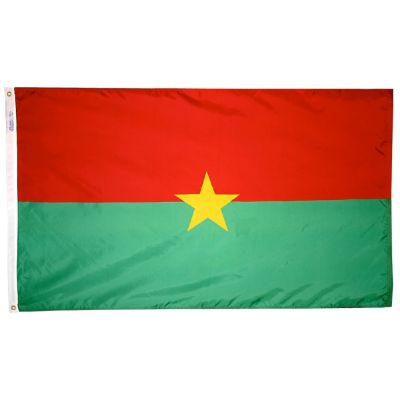 4ft. x 6ft. Burkina Faso Flag with Brass Grommets