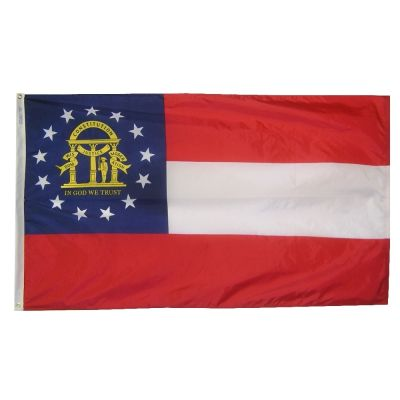 3ft. x 5ft. Georgia Flag with Brass Grommets