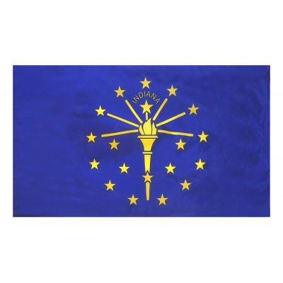4ft. x 6ft. Indiana Flag for Parades & Display