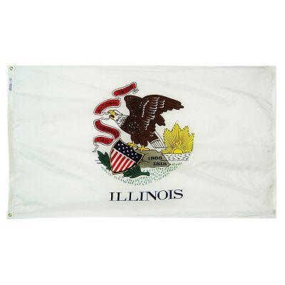 2ft. x 3ft. Illinois Flag with Brass Grommets