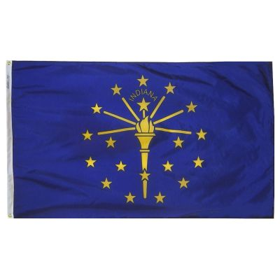 4ft. x 6ft. Indiana Flag with Brass Grommets