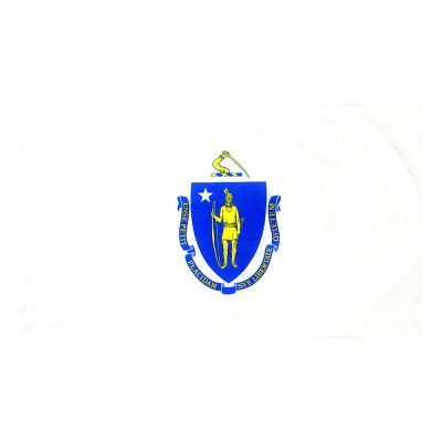 4ft. x 6ft. Massachusetts Flag for Parades & Display