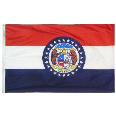 4ft. x 6ft. Missouri Flag w/ Line Snap & Ring