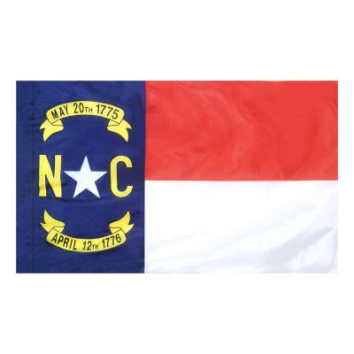 4ft. x 6ft. North Carolina Flag for Parades & Display