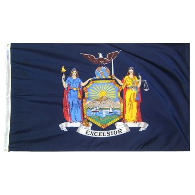 2ft. x 3ft. New York State Flag with Brass Grommets