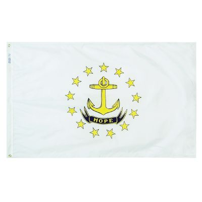 2ft. x 3ft. Rhode Island Flag with Brass Grommets