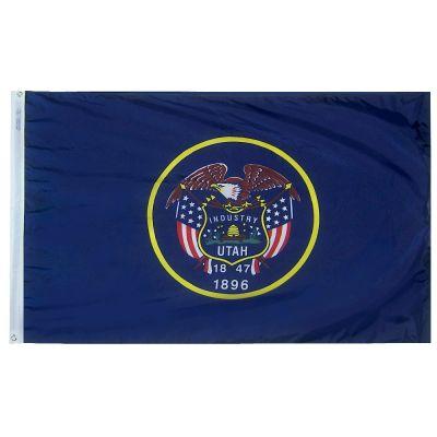 3ft. x 5ft. Utah Flag with Brass Grommets