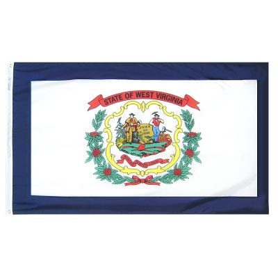 4ft. x 6ft. West Virginia Flag w/ Line Snap & Ring