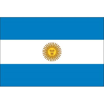 2ft. x 3ft. Argentina Flag Seal for Indoor Display