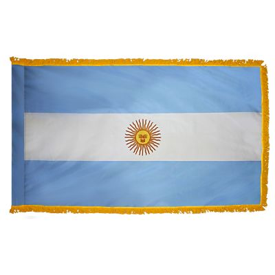 4ft. x 6ft. Argentina Flag Seal for Parades & Display with Fringe