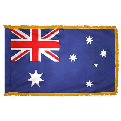 2ft. x 3ft. Australia Flag Fringed for Indoor Display