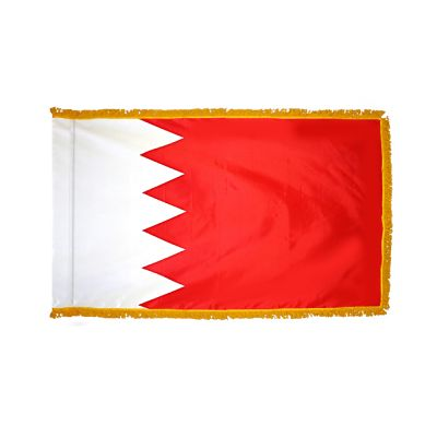 4ft. x 6ft. Bahrain Flag for Parades & Display with Fringe