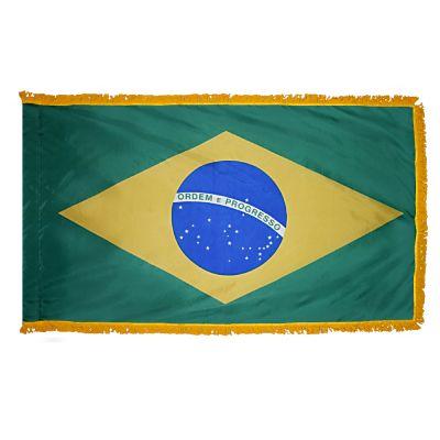 3ft. x 5ft. Brazil Flag for Parades & Display with Fringe