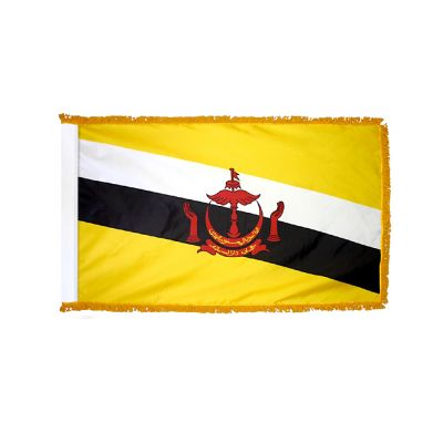 4ft. x 6ft. Brunei Flag for Parades & Display with Fringe
