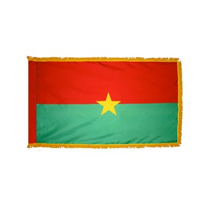 3ft. x 5ft. Burkina Faso Flag for Parades & Display with Fringe