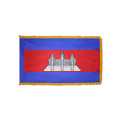 4ft. x 6ft. Cambodia Flag for Parades & Display with Fringe