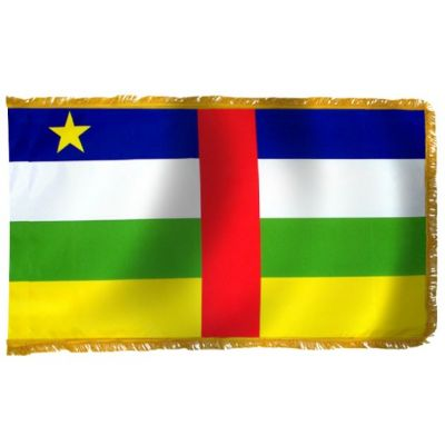 3ft. x 5ft. Central African Republic Flag Indoor with Fringe
